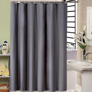 Shower-Curtain-With-Hook-Set-Plain-Waterproof-Long-Wide-Drop-Bathroom-180x180cm