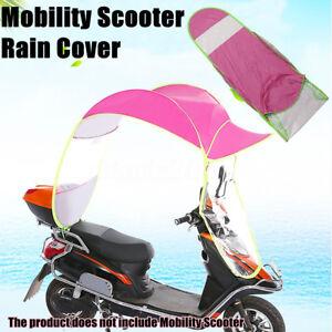 Rosa-Regenschirm-Sonnenschirm-Wetterdach-Elektromobil-E-Mobil-E-Scooter-U-J