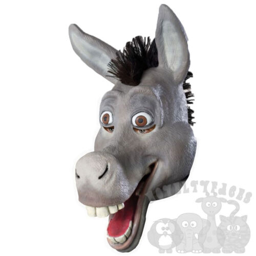 Latex Animal Full Head Comical Donkey Fancy Dress Carnival Stag Hen Party Masks