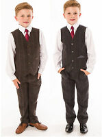 Boys Suits Boys Wedding Suit Tweed Waistcoat Suit Page Boy Baby Formal Party New