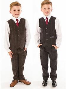 Garcons-costumes-garcons-mariage-costume-tweed-gilet-costume-page-garcon-baby-formal-party-new