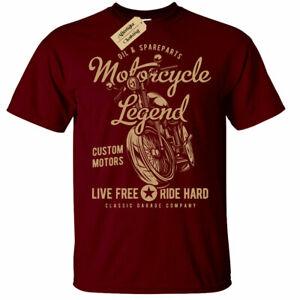 Leyenda-De-Motocicleta-Camiseta-Top-Para-Hombre-Biker-Moto