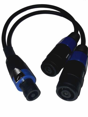 Adapter Y-Kabel Verteiler Speakon Stecker-2 kompatible Speaker Buchse//Kupplung