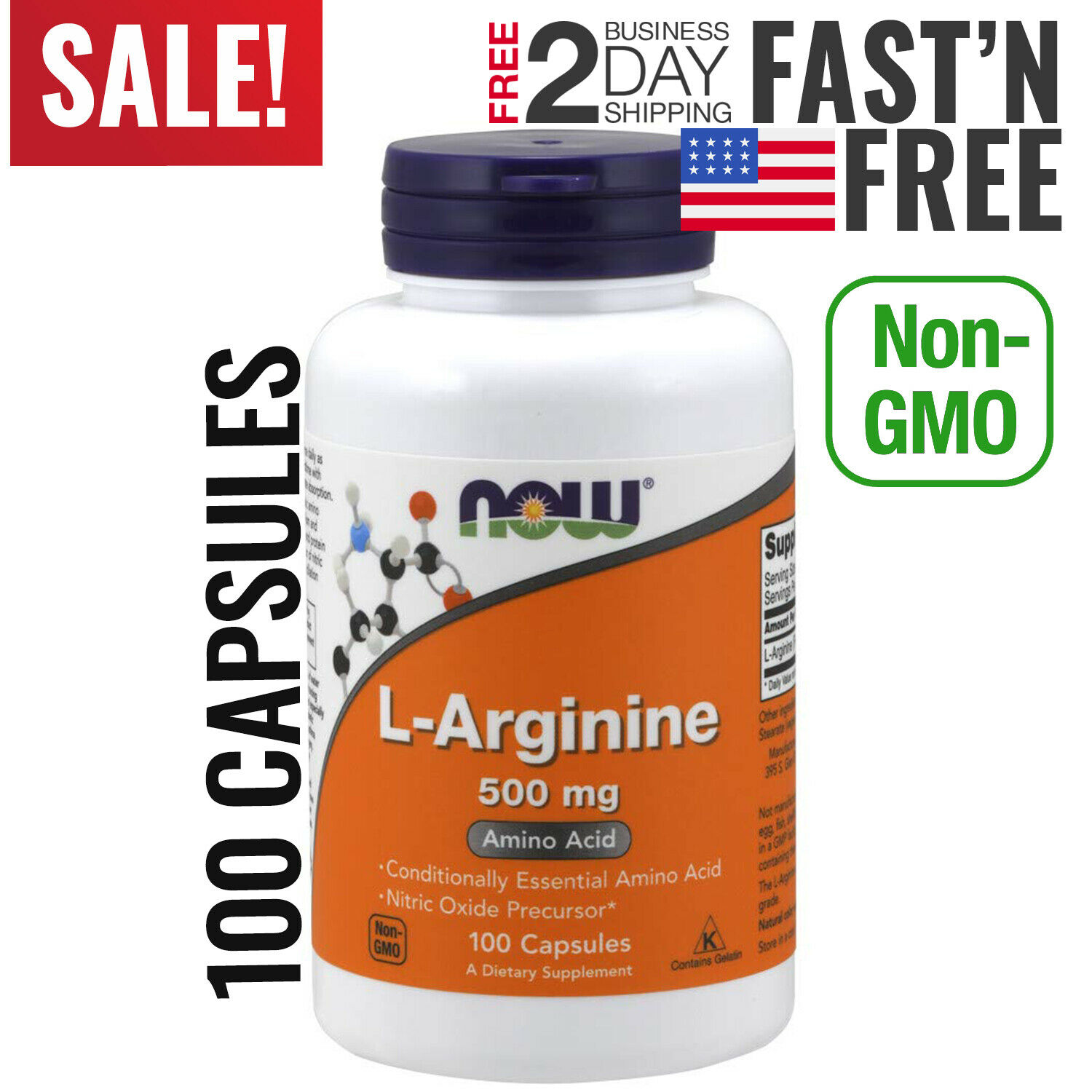 L-Arginine Nitric Oxide Booster Supplement For Sexual Health Erectile Function 5