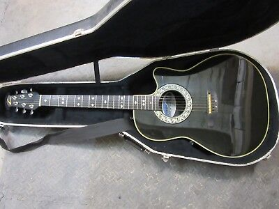 Musical Instruments & Gear Impartial Ovation Acoustic/electric Guitar Model # 1862 Custom Balladeer With Hard Case Selling Well All Over The World Acoustic Electric Guitars