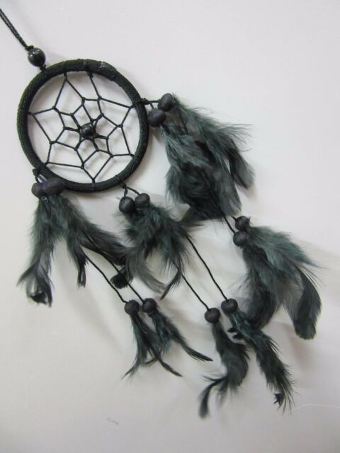 BEAUTIFUL  Nylon 6 cm Web Dream Catcher With Coconut Beads 32 cm Total Length