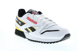 Reebok-Classic-Leather-Ripple-EG5219-Mens-White-Lace-Up-Lifestyle-Sneakers-Shoes