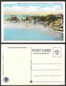 Details about Old Postcard - Thousand Islands, New York - Grenell Island  and Yacht Club