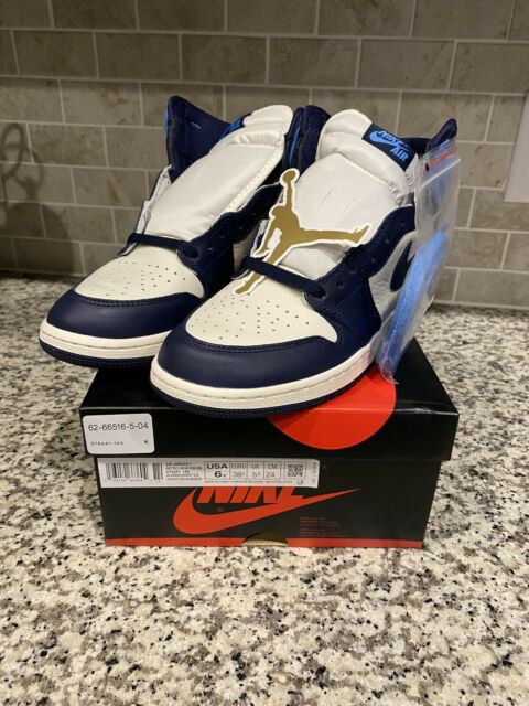 Nike Air Jordan 1 Retro High OG GS Boys'' Basketball Shoes - Sail ...