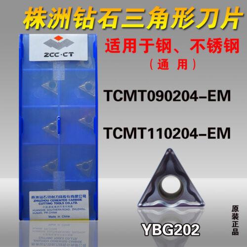 ZCC TCMT110204-EM YBG202 TCMT21.51 For stainless steel 10PCS carbide insert