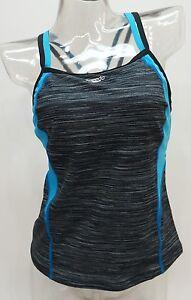 Spalline 6 Speedo Tankini Incrociate Nero Top Donna Colorati Blocchi Costume twxpqS
