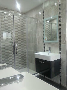elpes gloss hd natural grey 25x50 bathroom and kitchen wall tiles ebay