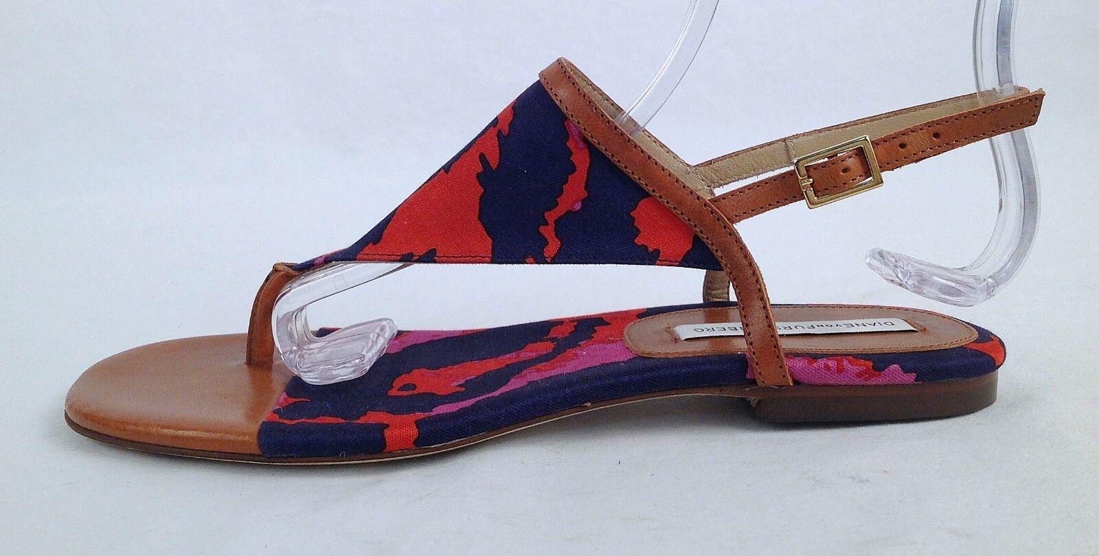 New!!Diane von -Size Furstenberg 'Myrna' Geometric-Slingback Thong -Size von 6B250-(P30) 9aa923