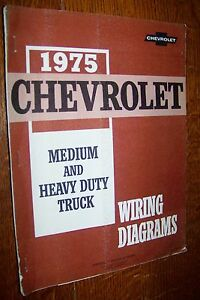 1975 chevrolet light medium heavy duty trucks wiring diagrams manual chevy ebay