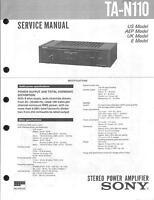 Sony Original Service Manual für TA-N 110