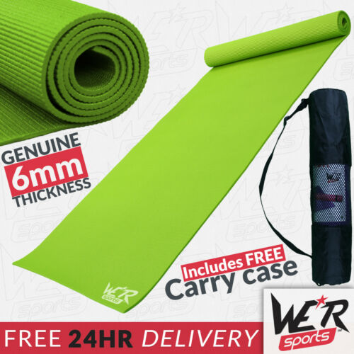 We R Sports Yoga Exercise Fitness Gym Workout Mat Physio Pilates Non Slip 6mm