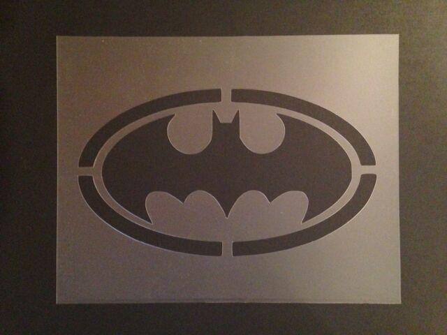 Batman Logo Stencil 7mil Superheroes Crafts Airbrushing Ebay