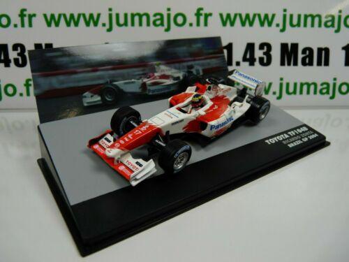 SEN22T eaglemoss 1//43 F1 BRESIL Formule 1 TOYOTA TF104B R.Zonta Brésil 2004