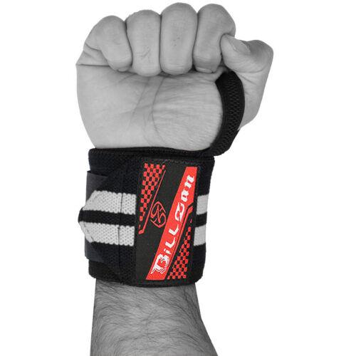 """Haltérophilie poignet Wraps De Soutien Gym Entraînement Coton Bandage bretelles 18/"""" Blanc"""