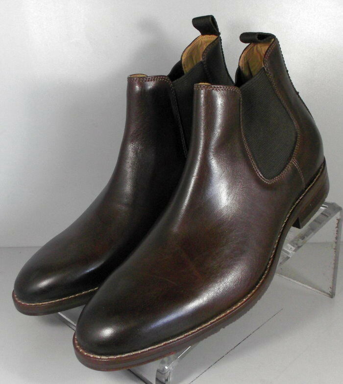 209823 ESBT50 Men's shoes Size 10.5 M Brown Leather Boots Johnston & Murphy