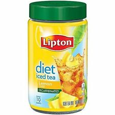 Lipton Diet Decaffeinated Lemon Iced Tea Mix, 10 Qt Diabetic