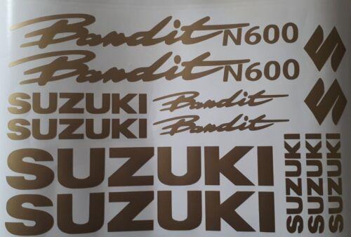 Planche de stickers SUZUKI BANDIT 600N Réservoir et carénages COLORIS AU CHOIX