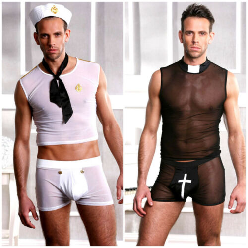 Gay Pride Mens Fancy Dress Costume Sailor Or Vicar A1 Wicked Size M /& L//XL