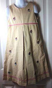 Vive-La-Fete-Girls-6-Georgia-Bulldogs-Embroidered-Sleeveless-Khaki-Dress