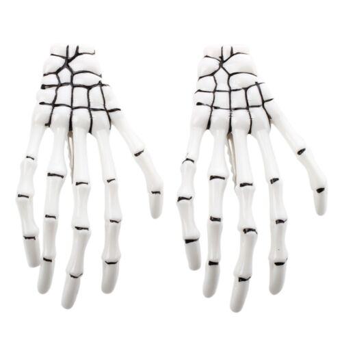 SODIAL Skelett Hand Knochen Haarspange Haarnadel Seite Ordner 6X Weiss N5 R