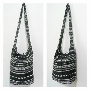 COTTON CANVAS BOHO HIPPY BEACH SLING BAG HIPPIE HANDBAG SHOULDER ...