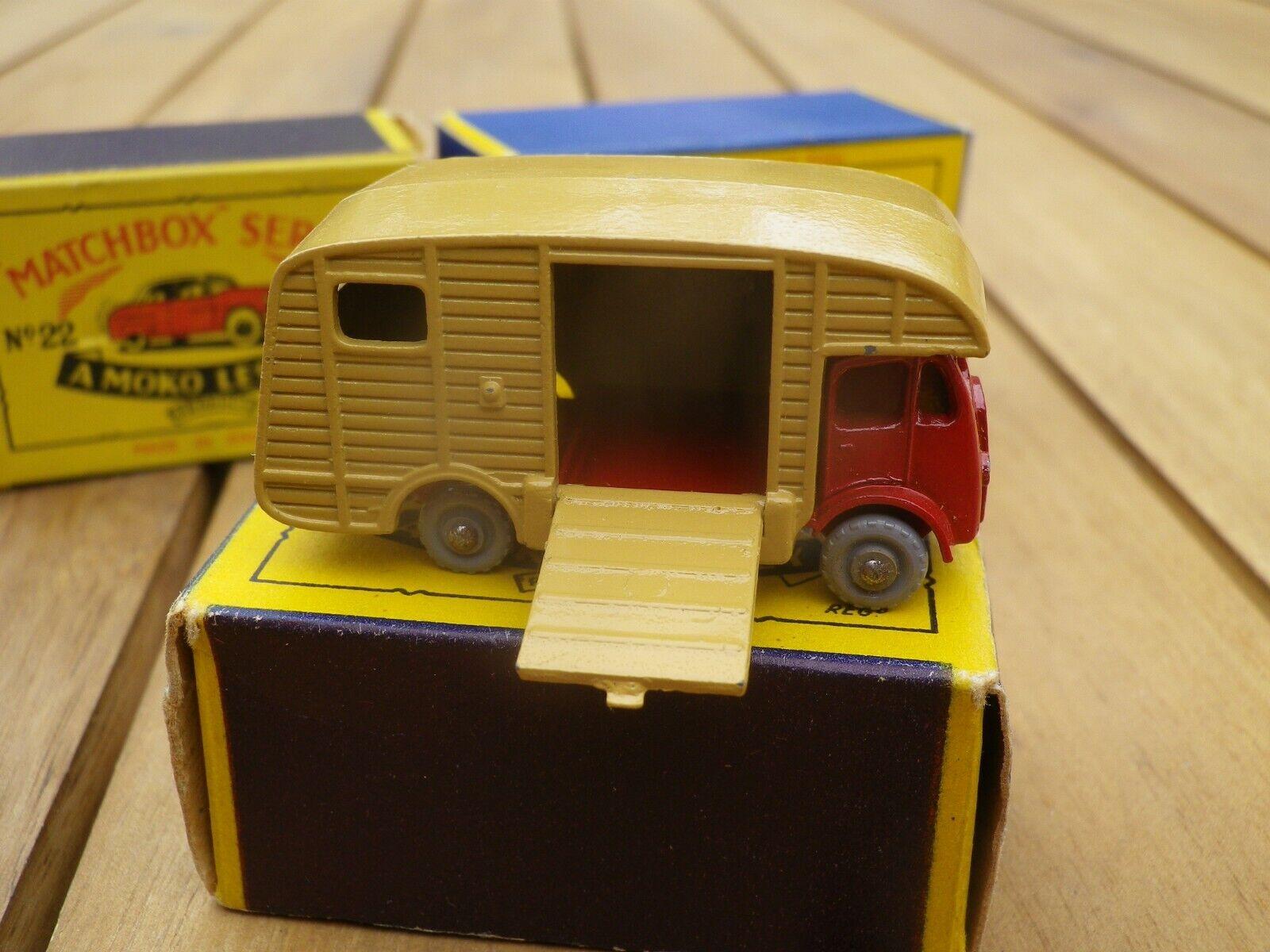 Matchbox 35 lesney moko horse box erf mk7 gpw like new + tres belle box b2