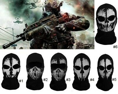 1x Cotton Balaclava Face Skull Ghost Mask Army Military Face Mask Call of Duty