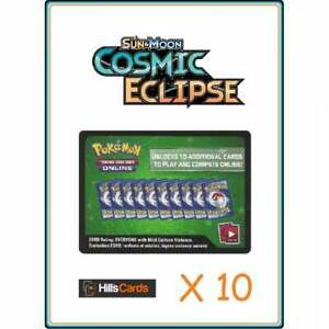 Cosmic-Eclipse-Codes-x-10-Pokemon-Online-Booster-Pack-Code-Card-TCGO-Sun-amp-Moon
