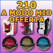 210 capsule cialde caffè compatibili A MODO MIO PROMO a scelta