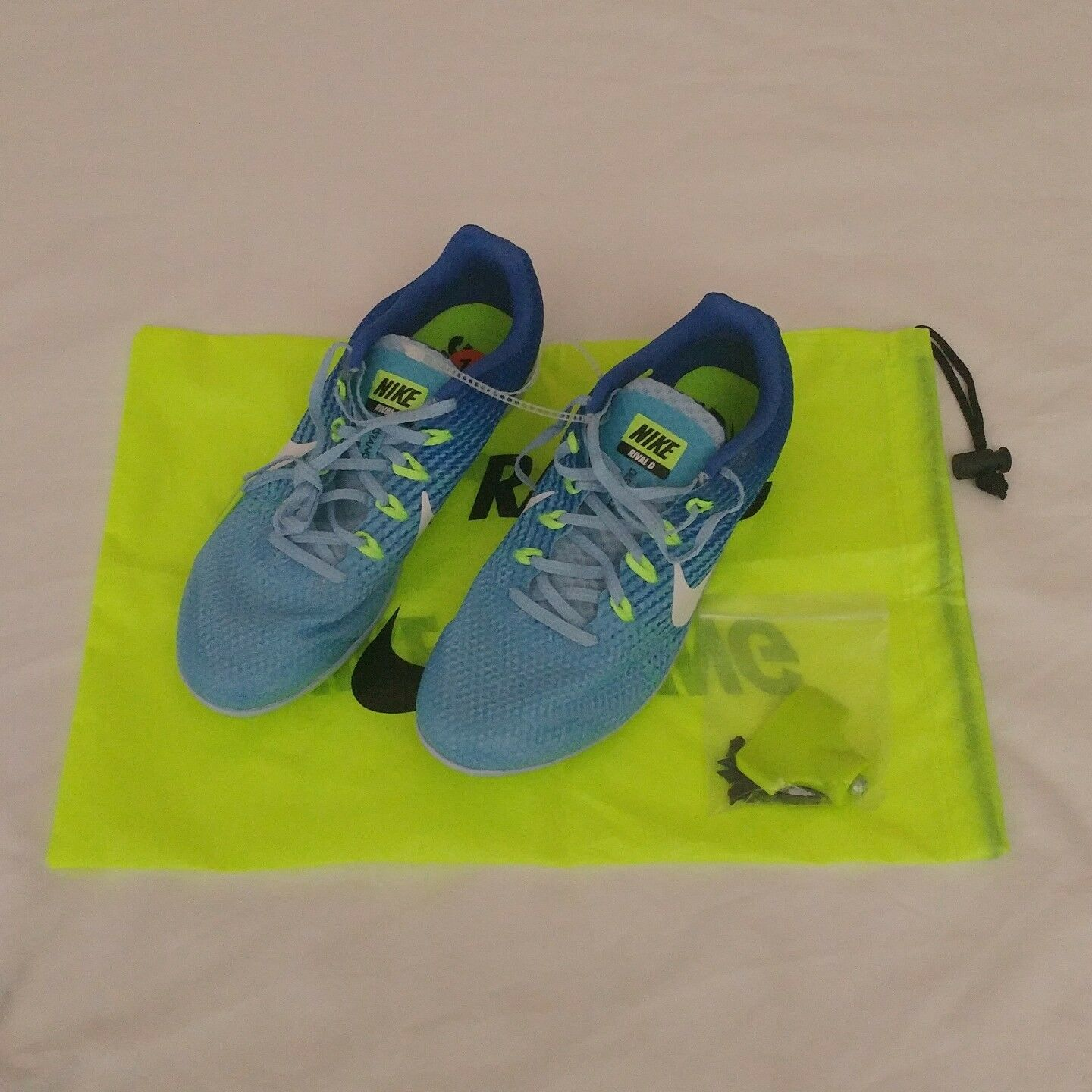 Nike Zoom Womens Rival D 9 Sz 11.5 Distance Running Track Spike Shoe 806560-401