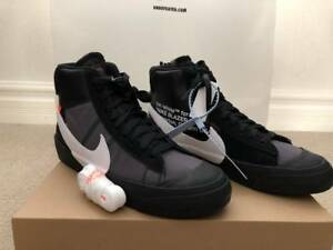 Details about New Off-White x Nike Blazer Mid The Ten Grim Reaper Black Size US 9 AA3832 001