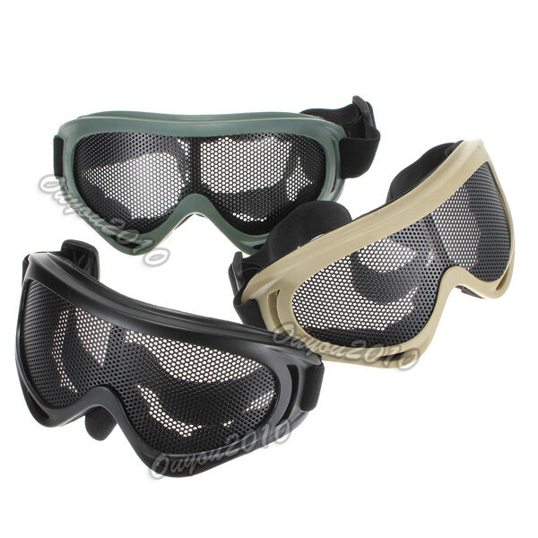 Tactical Hunting Airsoft Eyes Protection Metal Mesh Pinhole Glasses Goggle 2014