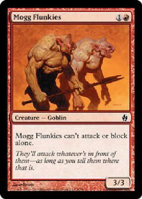 MTG X4: Mogg Maniac Stronghold U FREE US SHIPPING! Light Play