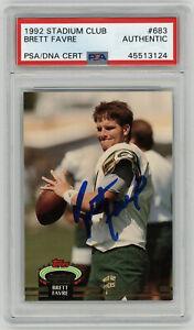 1992 PACKERS Brett Favre signed ROOKIE card Topps Stadium Club #683 PSA/DNA AUTO