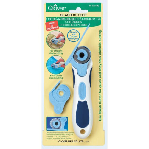 Clover 499 Slash 28mm Rotary Cutter with 2 Guides NEW