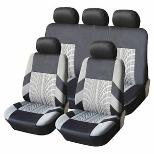 Komplettsatz-Schonbezuege-Sitzbezuege-grau-schwarz-Hochwertig-Komfort-D