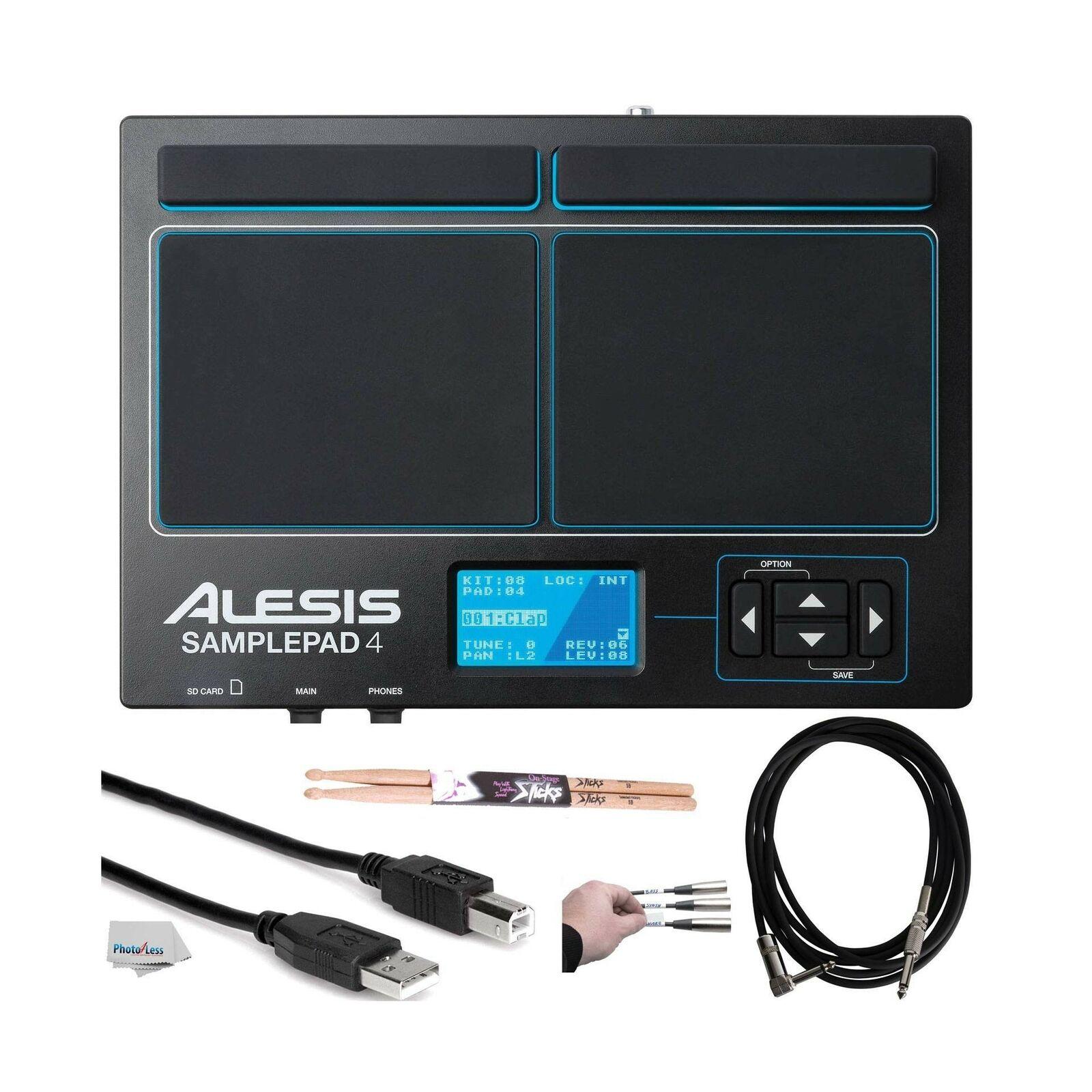 Alesis SamplePad 4Kompaktes 4-Pad Percussion und Sampleauslösende Instrumente...