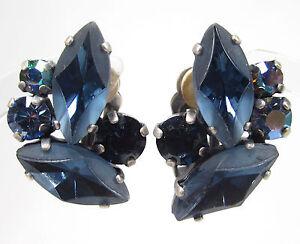SoHo-Ohrclips-navette-handgemachte-bohemia-Glassteine-Kristalle-montana-blau