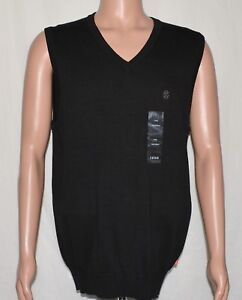 IZOD-6269-NEW-Men-039-s-Big-amp-Tall-Black-100-Cotton-V-Neck-Sweater-Vest