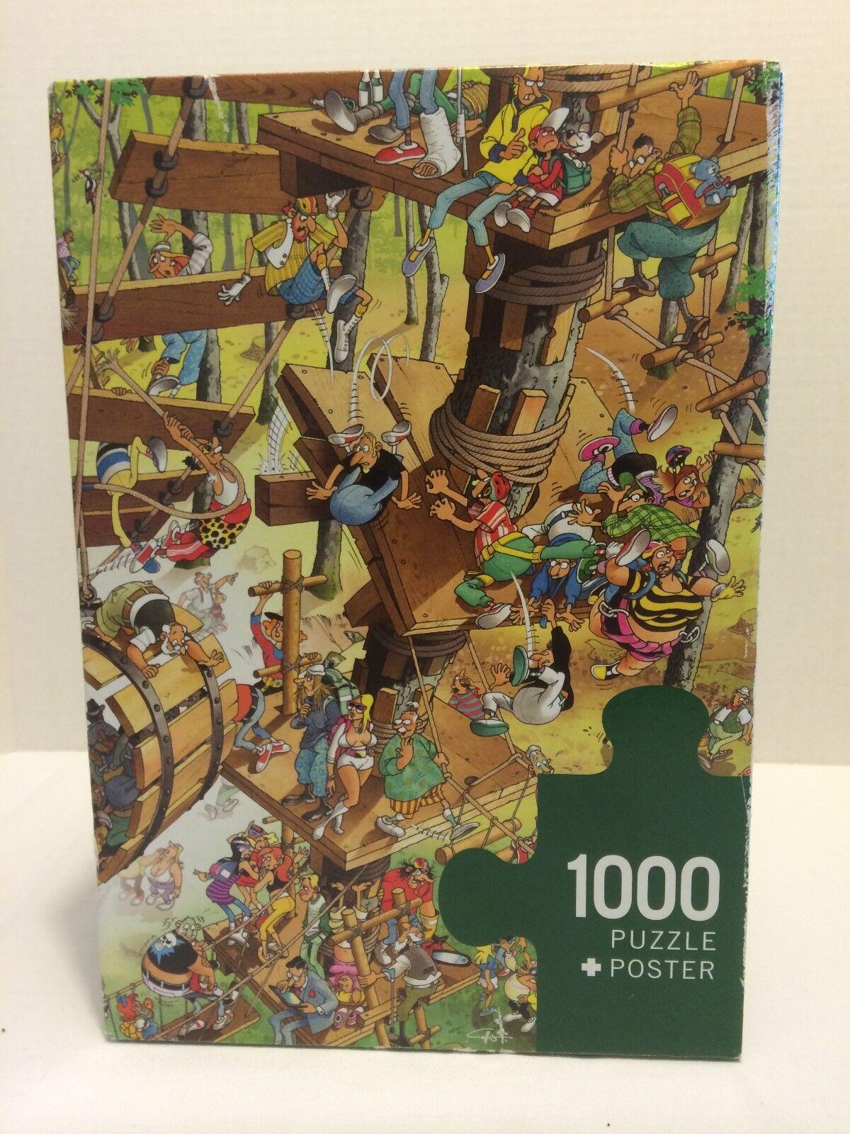 1000 Pieces HEYE Puzzle + Poster - Climbing by Giuseppe Calligaro Very Rare EUC
