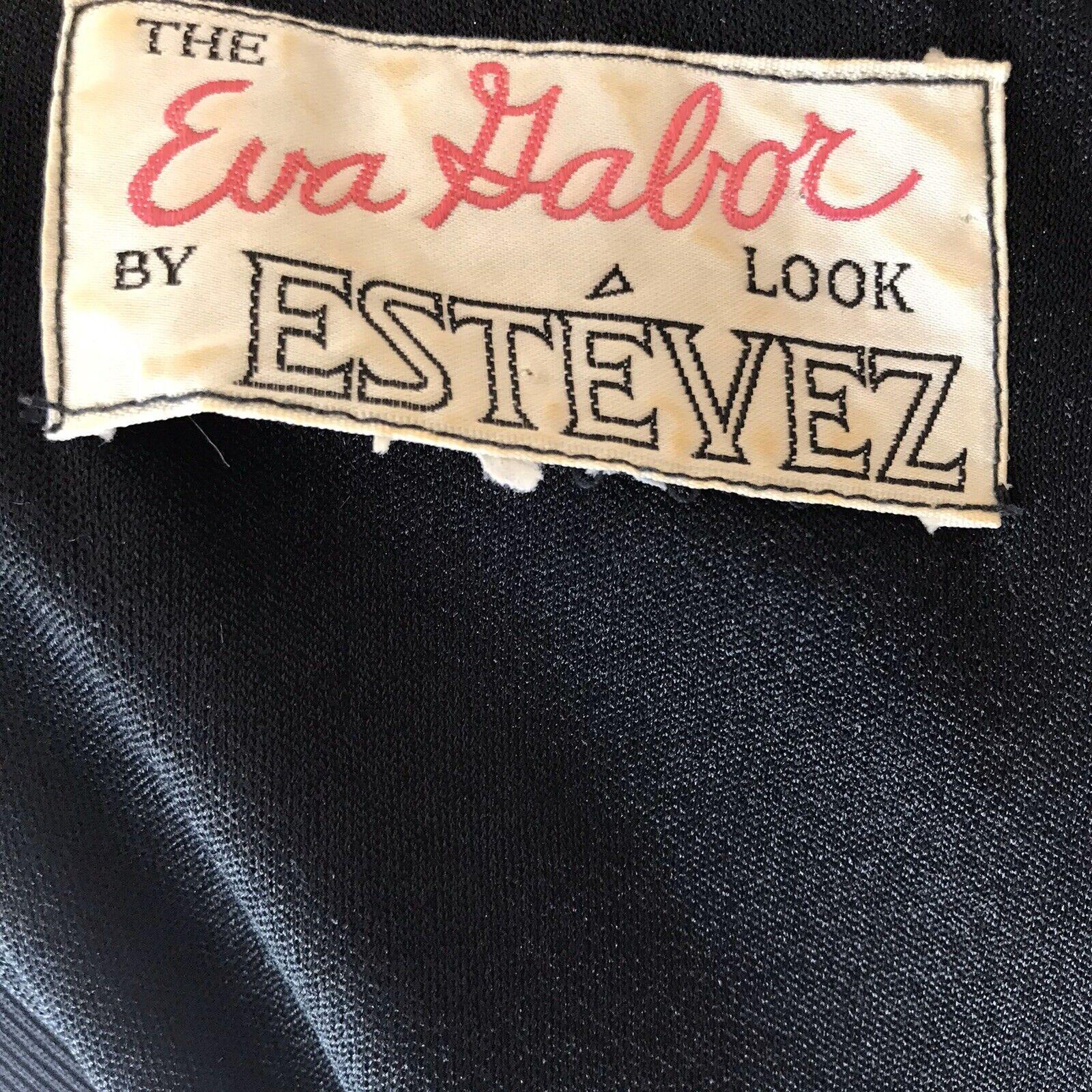 Vintage Luis Estevez Dress Eva Gabor Look Label B… - image 10
