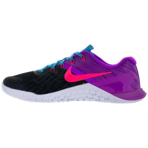 Nike Metcon 3 Femmes Entraînement Croisé Noir rose-Hyper Violet Taille 15