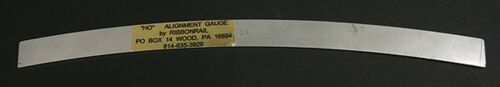 "Curved 24/"" Radius 10/"" Track Alignment Gauges HO Ribbonrail"