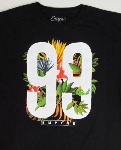 EMPYRE Tropical Varsity T-shirt Hawaiian Flower 99 Tee Adult XL Black New Men