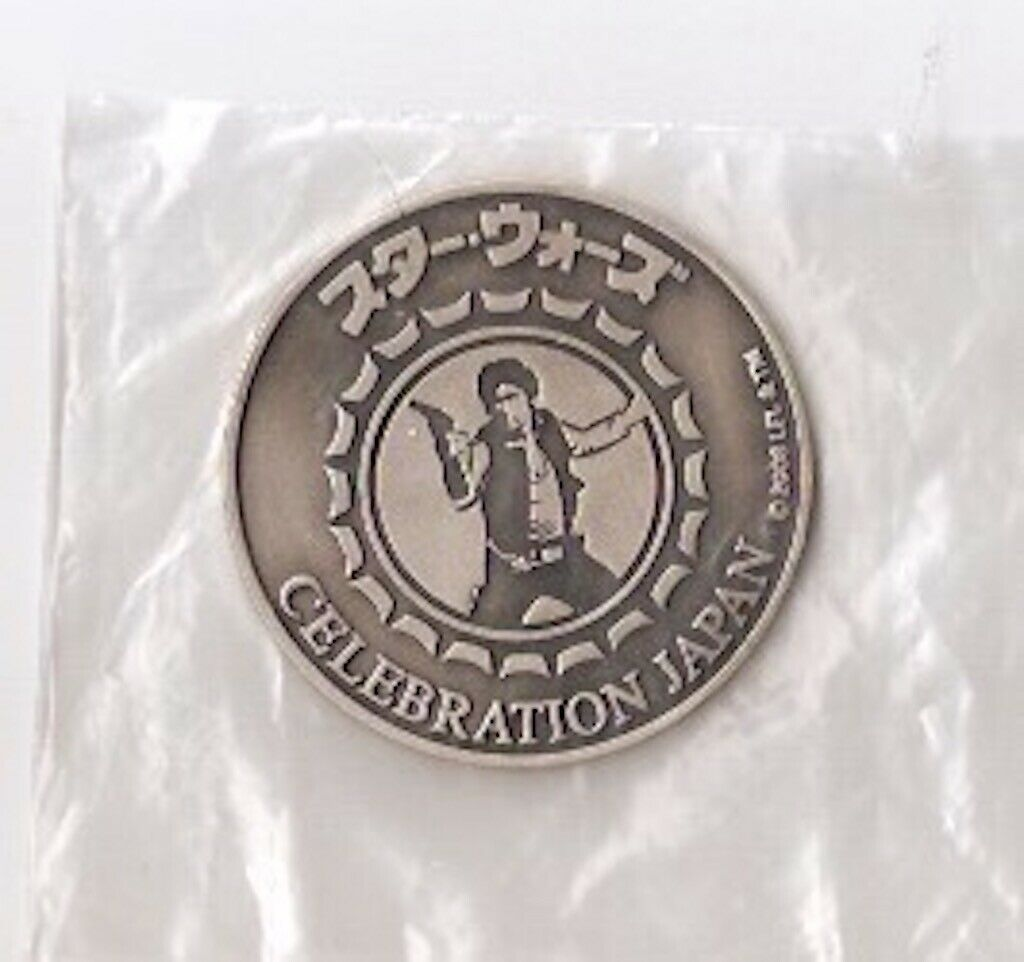 Star Wars Celebration Japan 2008 Pewter Medallion Takara HAN SOLO RARE